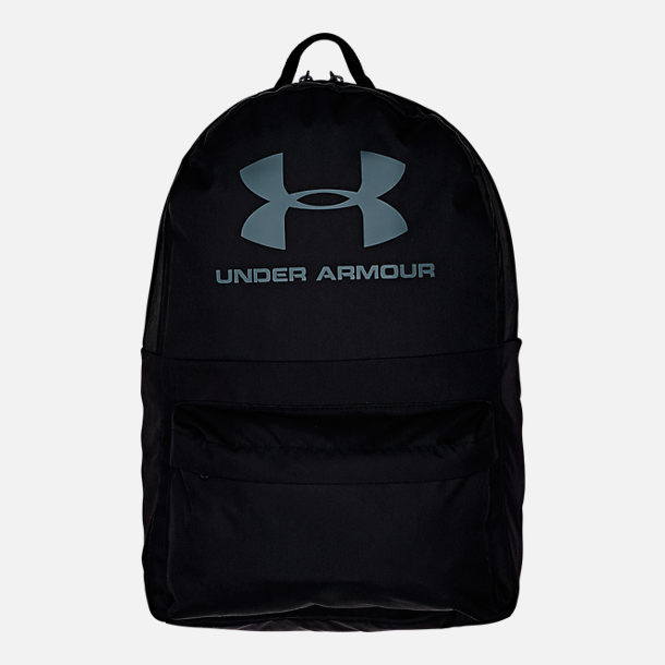 Front view of Under Armour Loudon Backpack in Black/Black/Grey