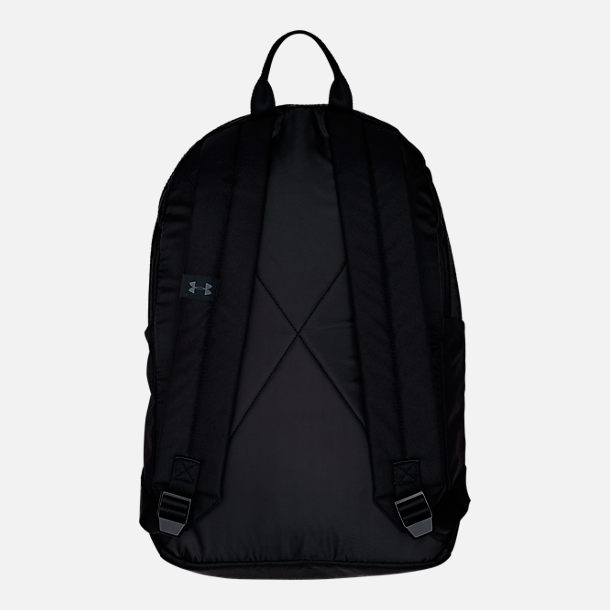 Back view of Under Armour Loudon Backpack in Black/Black/Grey