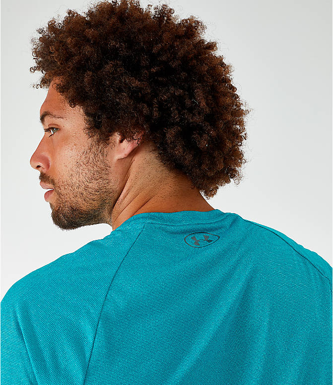 On Model 5 view of Men's Under Armour Tech T-Shirt in Teal Rush