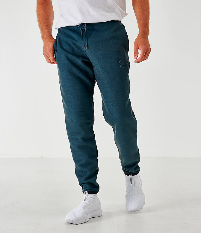 Front view of Men's Under Armour Unstoppable Move Light Jogger Pants in Dark Grey