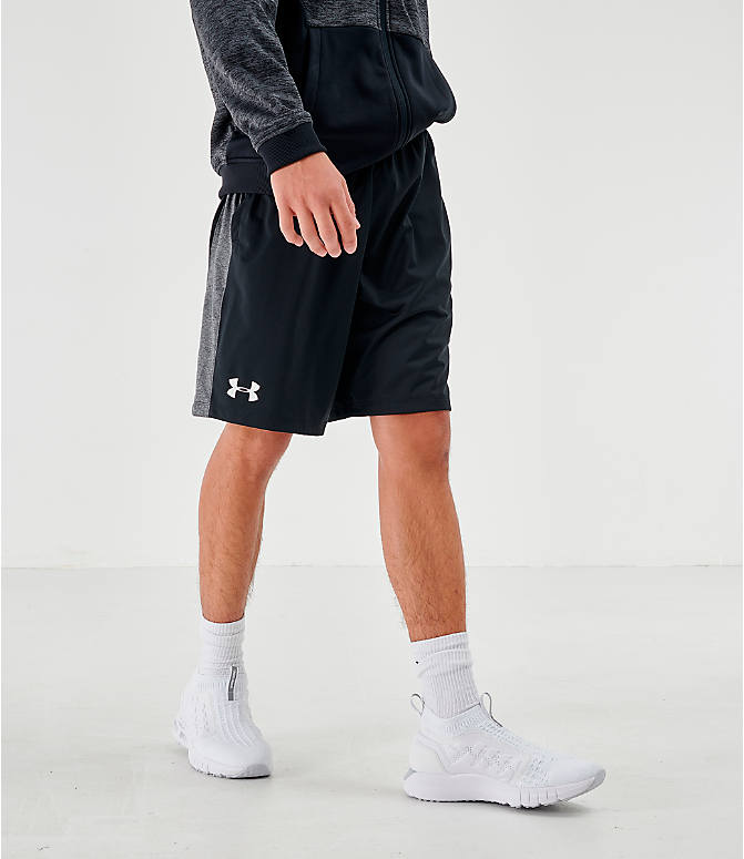 Front view of Men's Under Armour MK1 Training Shorts in Black/Grey