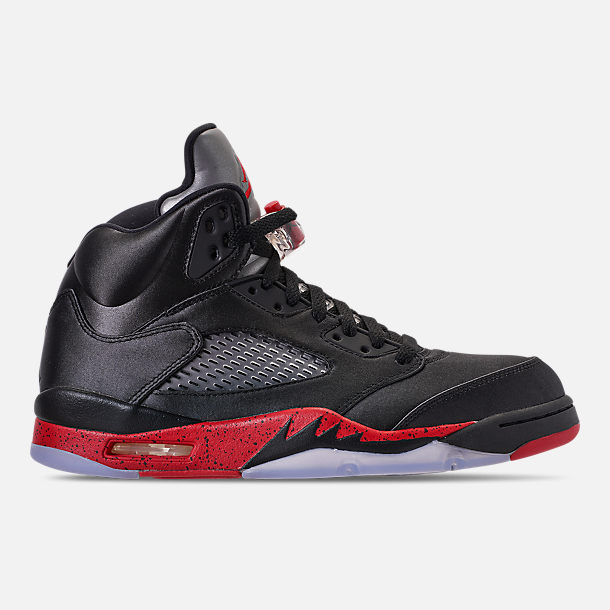 c6a5a77aeb38 Right view of Men s Air Jordan Retro 5 Basketball Shoes in Black University  Red