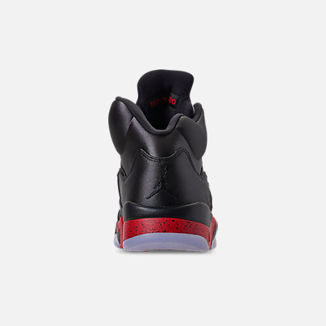 044334a65fc7 Back view of Men s Air Jordan Retro 5 Basketball Shoes in Black University  Red