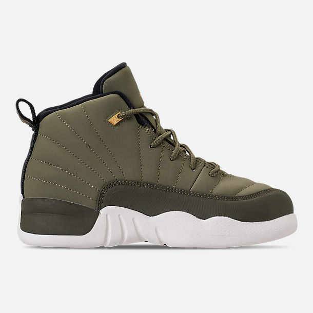 fbacf057fba Right view of Little Kids  Air Jordan Retro 12 Basketball Shoes