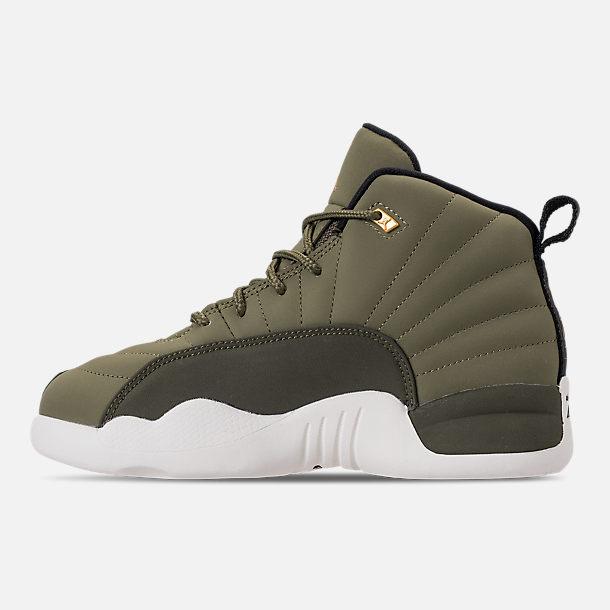 bedbbadb090 Left view of Little Kids  Air Jordan Retro 12 Basketball Shoes
