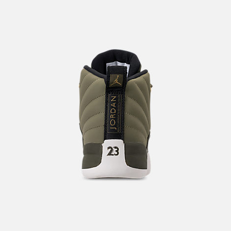 Back view of Little Kids' Air Jordan Retro 12 Basketball Shoes