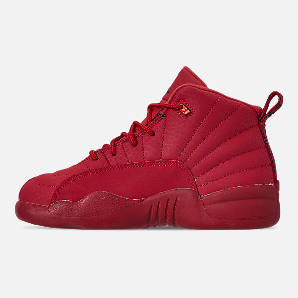 Left view of Little Kids' Air Jordan Retro 12 Basketball Shoes