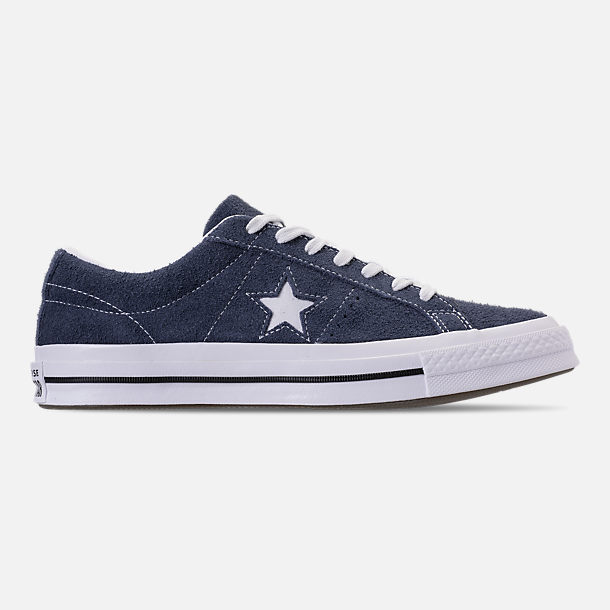 Right view of Men's Converse One Star Ox Casual Shoes in Converse Navy