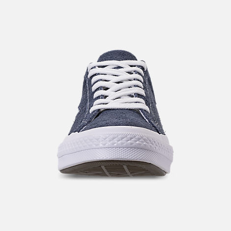 Front view of Men's Converse One Star Ox Casual Shoes in Converse Navy