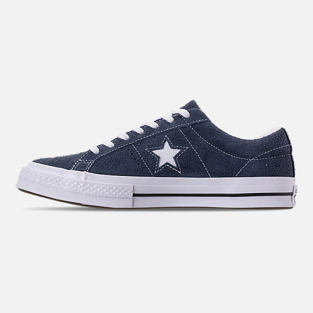 Left view of Men's Converse One Star Ox Casual Shoes in Converse Navy