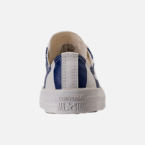 Back view of Men's Converse Chuck Taylor All-Star Wordmark Low Top Casual Shoes in Off White/Navy