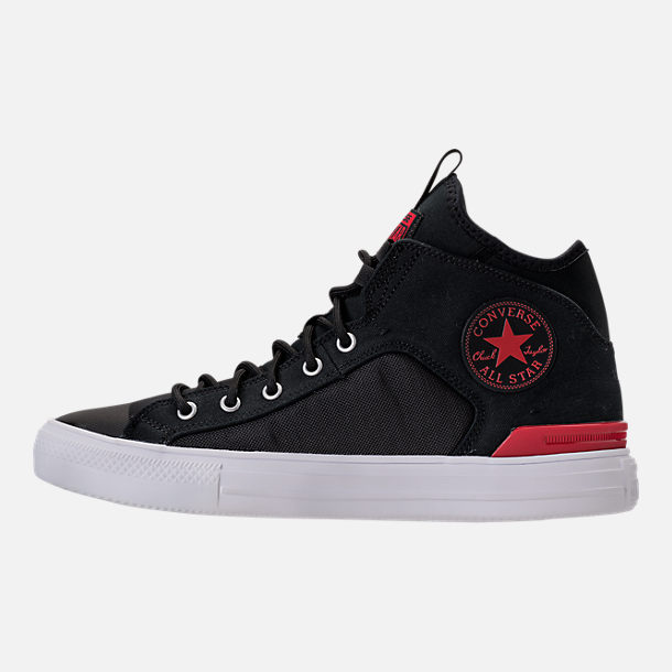 Left view of Men's Converse Chuck Taylor All Star Ultra Casual Shoes in Black/Gym Red/White