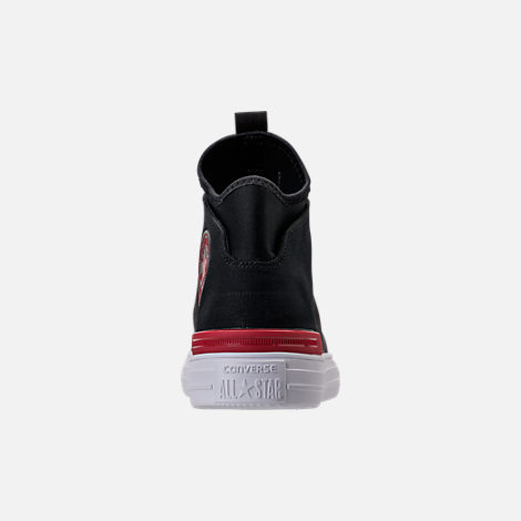 Back view of Men's Converse Chuck Taylor All Star Ultra Casual Shoes in Black/Gym Red/White