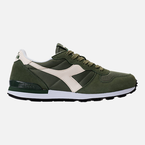 Right view of Unisex Diadora Camaro Casual Shoes in Army Green/White/Beige