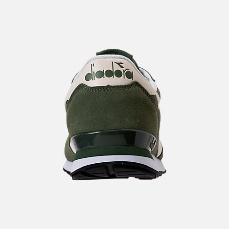 Back view of Unisex Diadora Camaro Casual Shoes in Army Green/White/Beige