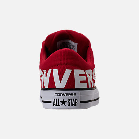 Back view of Men's Converse Chuck Taylor All-Star Canvas Workmark Casual Shoes in Red/White/Black