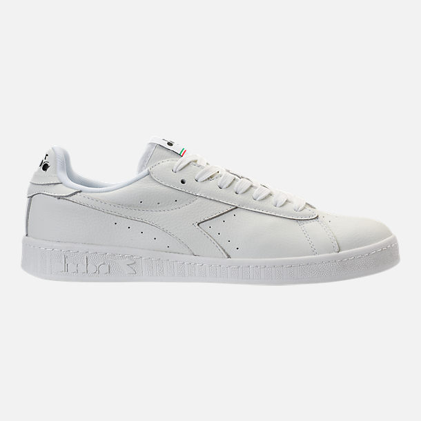 Right view of Unisex Diadora Game L Low Waxed Casual Shoes in White/Black