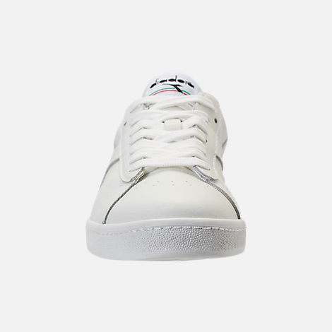 Front view of Unisex Diadora Game L Low Waxed Casual Shoes in White/Black