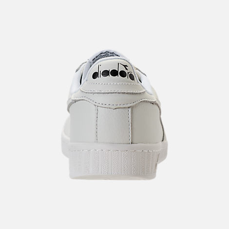 Back view of Unisex Diadora Game L Low Waxed Casual Shoes in White/Black