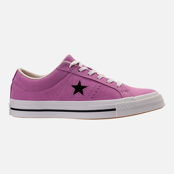 Right view of Women's Converse One Star Casual Shoes in Fuchsia Glow
