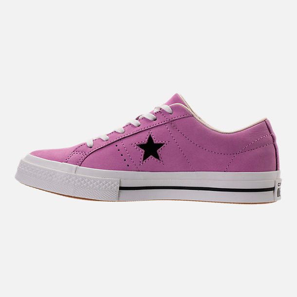 Left view of Women's Converse One Star Casual Shoes in Fuchsia Glow