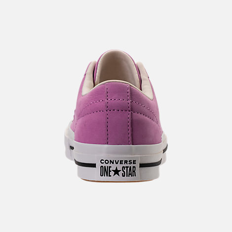Back view of Women's Converse One Star Casual Shoes in Fuchsia Glow
