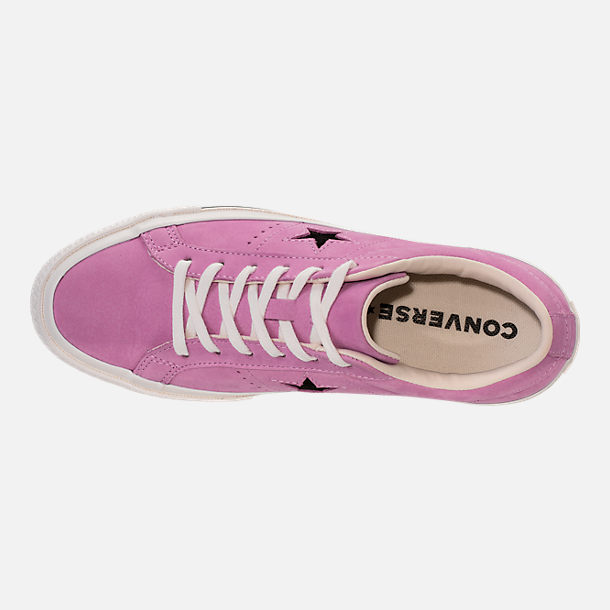 Top view of Women's Converse One Star Casual Shoes in Fuchsia Glow