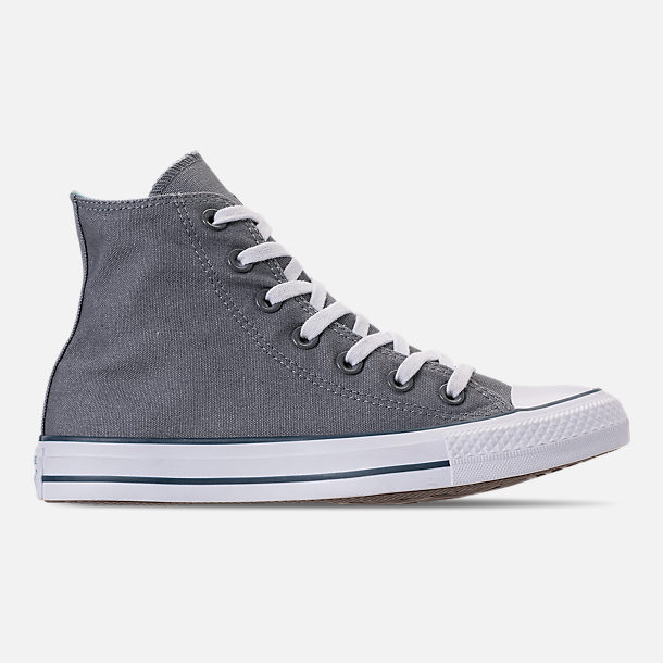 Right view of Women's Converse Chuck Taylor All Star Seasonal High Top Casual Shoes in Cool Grey/Shoreline Blue