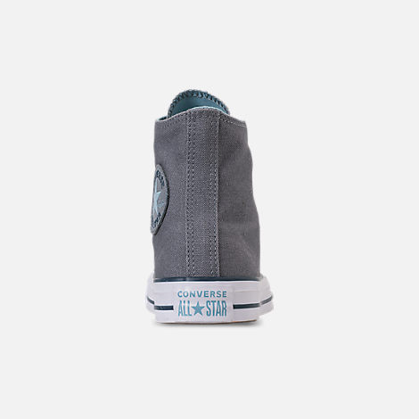 Back view of Women's Converse Chuck Taylor All Star Seasonal High Top Casual Shoes in Cool Grey/Shoreline Blue