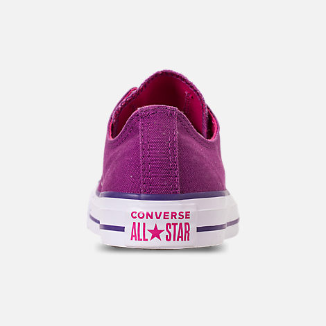 Back view of Women's Converse Chuck Taylor All Star Seasonal Ox Casual Shoes in Icon Violet/Pink Pop/White