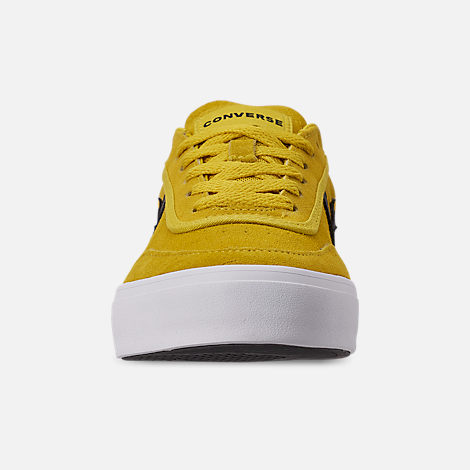 Front view of Men's Converse Courlandt Casual Shoes in Vivid Sulfur/White/Black
