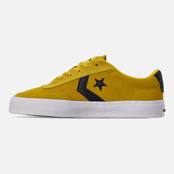 Left view of Men's Converse Courlandt Casual Shoes in Vivid Sulfur/White/Black