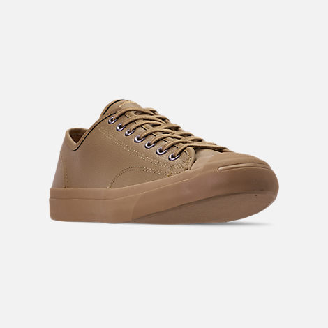 44e588202f2f Three Quarter view of Men s Converse Jack Purcell Desert Storm Leather Low  Top Casual Shoes in