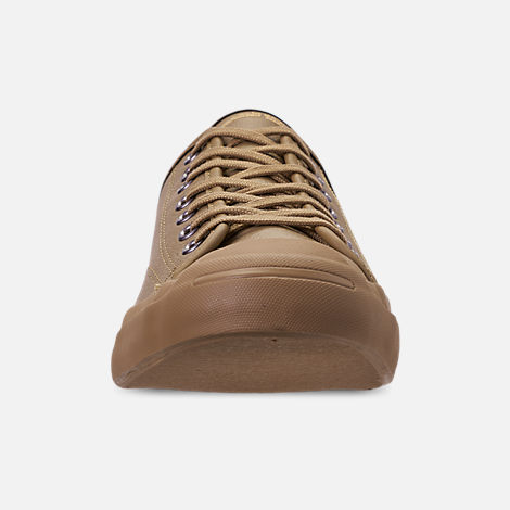 40551f7ecca1 Front view of Men s Converse Jack Purcell Desert Storm Leather Low Top Casual  Shoes in Teak