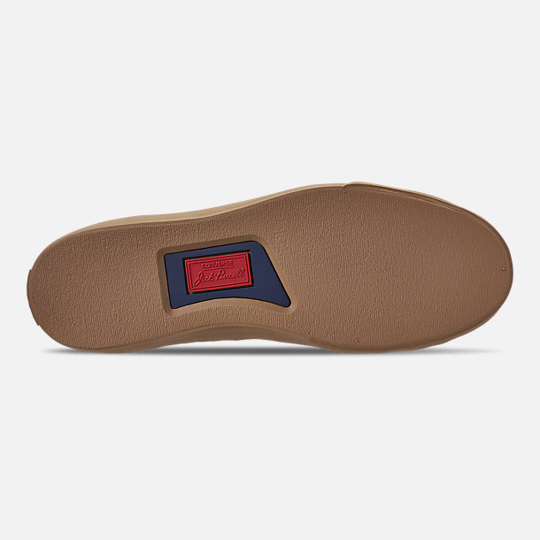 bed3e562fefa Bottom view of Men s Converse Jack Purcell Desert Storm Leather Low Top  Casual Shoes in Teak