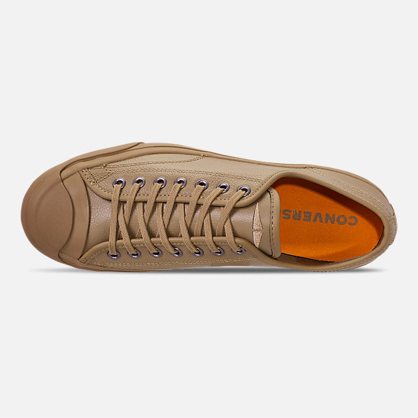 e0b8d5fc1211 Top view of Men s Converse Jack Purcell Desert Storm Leather Low Top Casual  Shoes in Teak