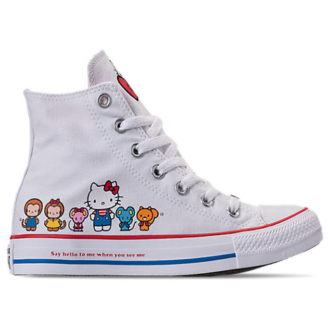 Girls' Toddler Chuck Taylor All Star Hello Kitty High Top Casual Shoes, White