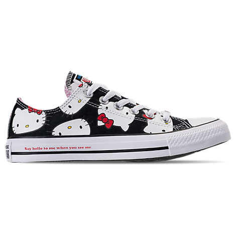 Women'S Chuck Taylor All Star Hello Kitty Ox Casual Shoes, Black