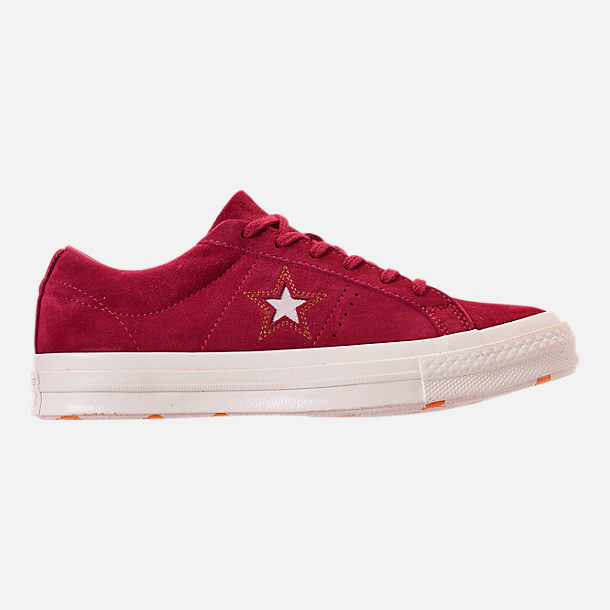 975983ce282 Right view of Women s Converse One Star Low Casual Shoes in Rhubarb Field  Orange