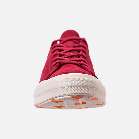 Front view of Women s Converse One Star Low Casual Shoes in Rhubarb Field  Orange  3de7dcf4f