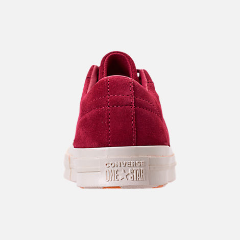 Back view of Women's Converse One Star Low Casual Shoes in Rhubarb/Field Orange/Egret