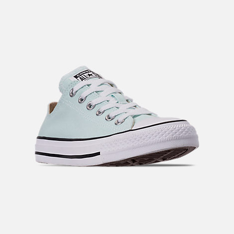 Three Quarter view of Women's Converse Chuck Taylor All Star Low Top Casual Shoes in Teal Tint