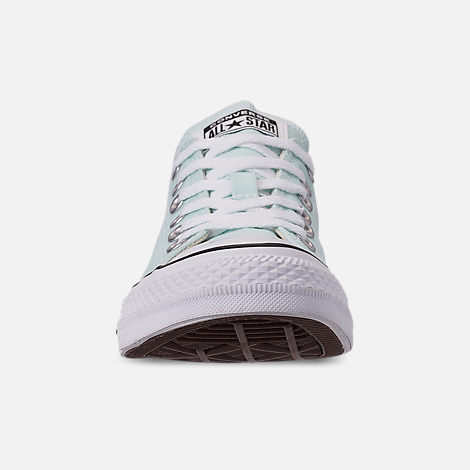 Front view of Women's Converse Chuck Taylor All Star Low Top Casual Shoes in Teal Tint