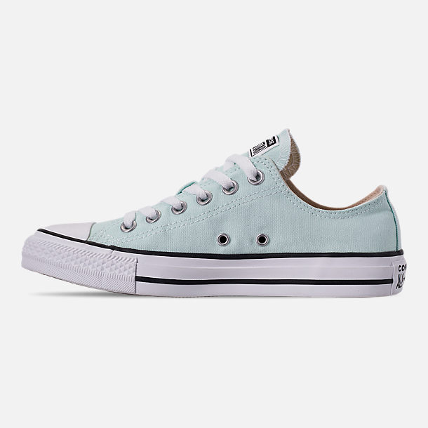 Left view of Women's Converse Chuck Taylor All Star Low Top Casual Shoes in Teal Tint