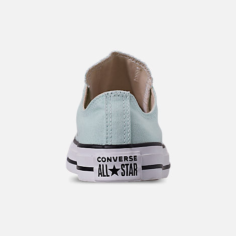 Back view of Women's Converse Chuck Taylor All Star Low Top Casual Shoes in Teal Tint