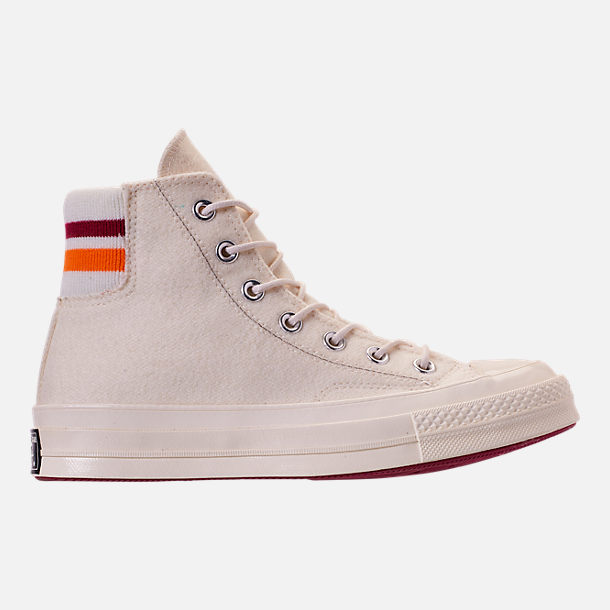 315fea56a3d5 Right view of Unisex Converse Chuck Taylor All Star 70 High Top Casual Shoes  in Egret