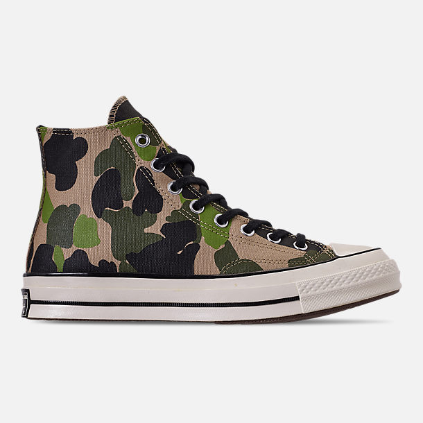 Right view of Men's Converse Chuck 70 High Top Casual Shoes in Candied Ginger/Piquant Green