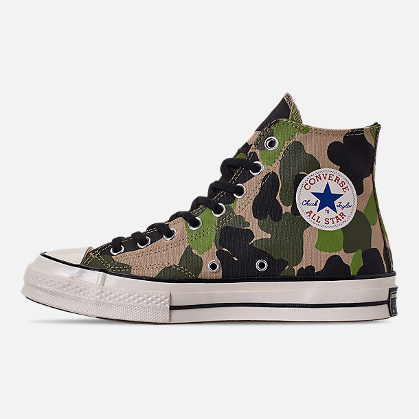 Left view of Men's Converse Chuck 70 High Top Casual Shoes in Candied Ginger/Piquant Green