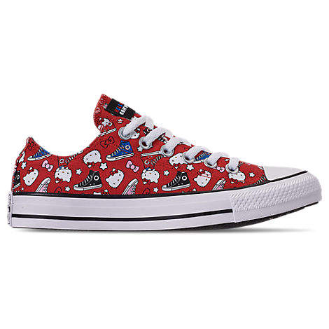 Women'S X Hello Kitty Chuck Taylor All Star Low Casual Shoes, Red