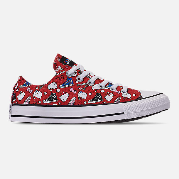 Right view of Women's Converse x Hello Kitty Chuck Taylor All Star Low Casual Shoes in Fiery Red/Black/White